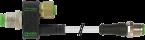 T-COUPLER M12FEM.8P/M12MALE 3P + M12MALE 4P+CABLE
