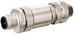 M12 D-CODE MALE STRAIGHT 6..8MM
