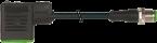 M12 male 0° A-cod. / MSUD valve plug BI-11mm