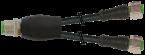 Y-Distributor M12 male / M12 female 0° A-cod.