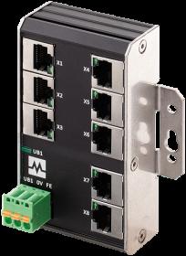 Xenterra 8TX unmanaged Switch wallmounted 8 Port 100Mbit WM